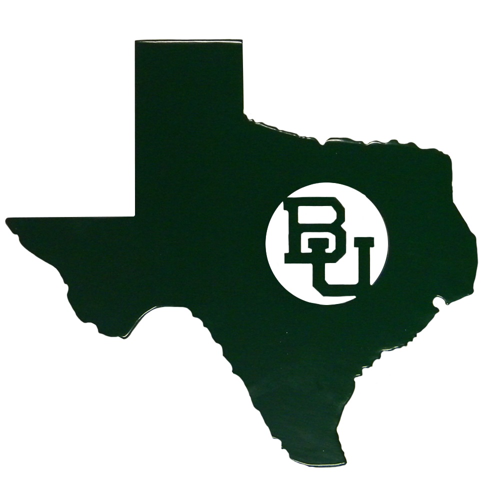 Texas BU Metal Sign