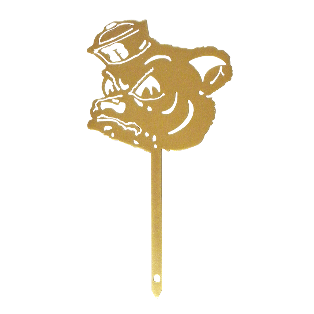 Baylor Sailor Bear Gold Yard Sign
