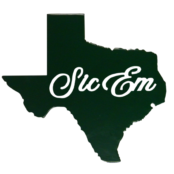 Texas Sic Em Wall Sign