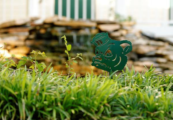 Baylor University Sailor Bear Green Metal Yard Sign