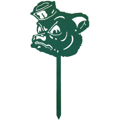 Baylor University Sailor Bear Green Metal Garden Stake