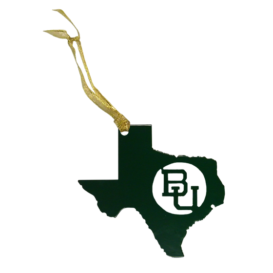 Texas BU Baylor Christmas Ornament Green