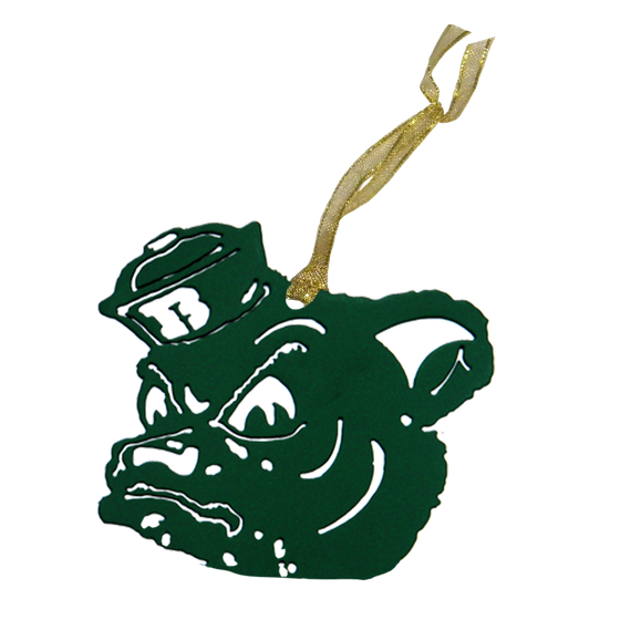 Baylor Sailor Bear Christmas Ornament Green