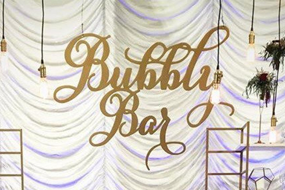 Bubbly Bar Champagne Bar Wedding Sign