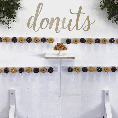 Custom Metal Sign for Wedding - Donuts