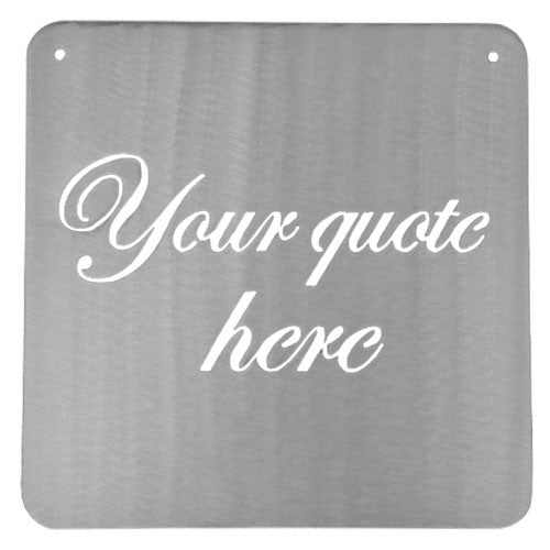 Custom Metal Sign - Metal Mantra