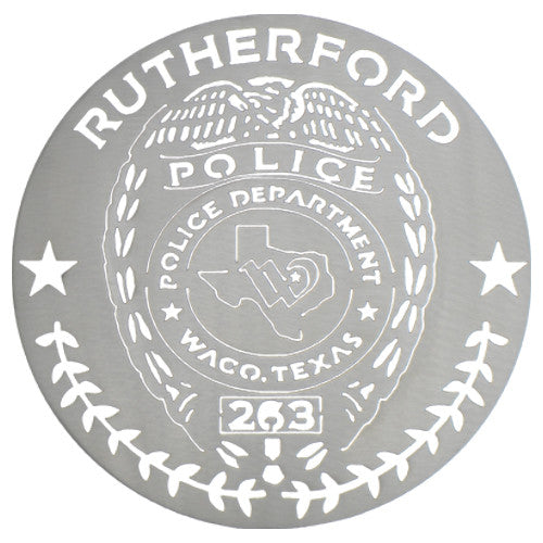 Custom Wall Badge with Police Number
