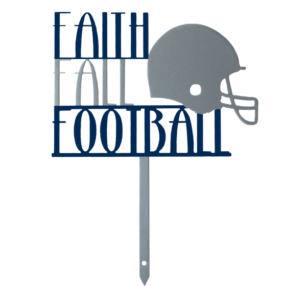 Faith Fall and Football Football Yard Stake Fall Yard Stake Football Season Dallas Cowboys Cowboy Football