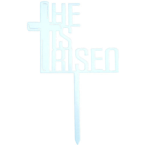 He Is Risen Easter Garden Stake