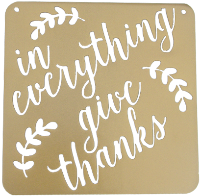 In Everything Give Thanks Fall Sign