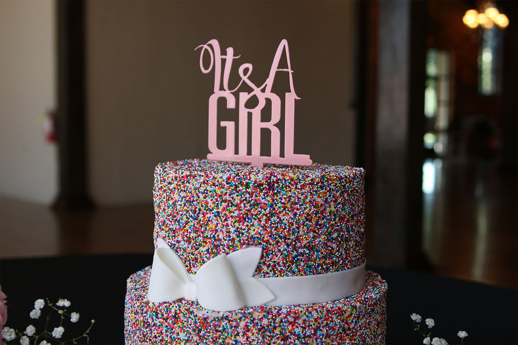 It's a Girl Cake Topper - Baby Shower Cake Topper