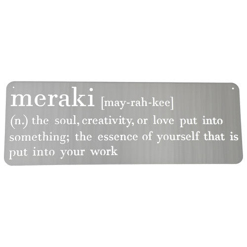 Meraki Wall Sign