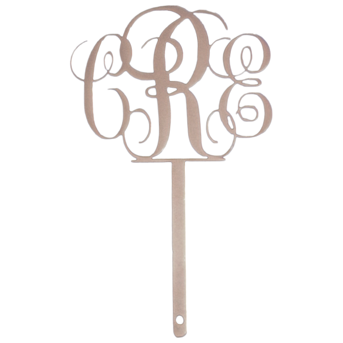 Custom Monogram Cake Topper Copper