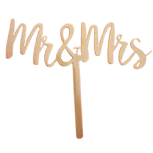 Mr. and Mrs. Wedding Cake Topper