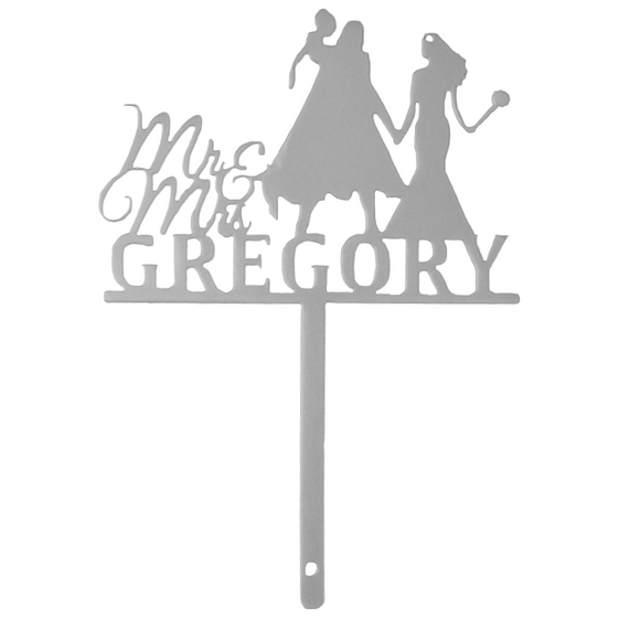 Mr. & Mrs. with Last Name & Superhero | Cake Topper