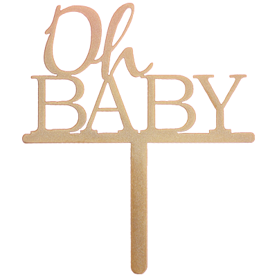 Oh Baby Baby Shower Cake Topper Gender Neutral