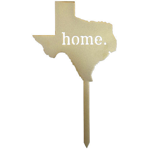 Texas Home Gold Metal Garden Stake