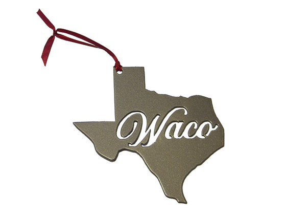 Waco Texas Champagne Ornament