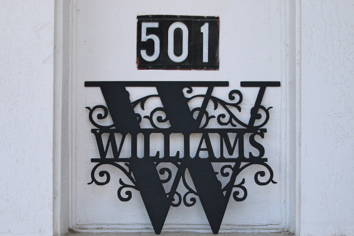 Custom Last Name House Sign