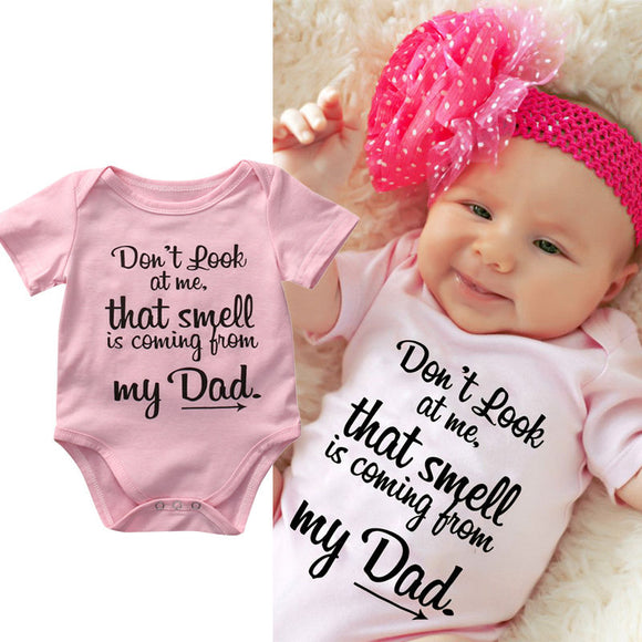 Don't Look Baby Romper