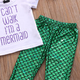 Baby Girl Mermaid 3PCS Outfit