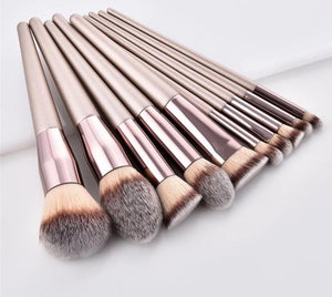 Diamond Makeup Brush - 10 PCs Set