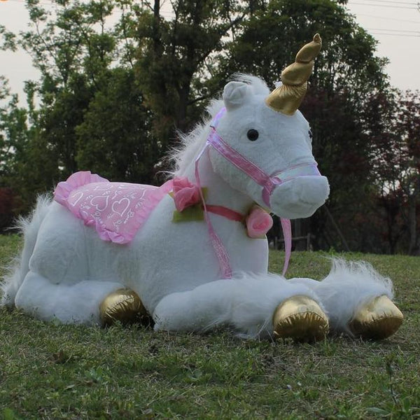 White Unicorn Plush Toy