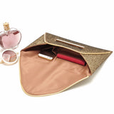Envelope Glitter Clutch Purse