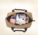 LARGE CAPACITY CANVAS TRAVEL DUFFEL BAG