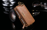 Leather Retro Luxury Wallet Case For iPhone, Samsung & Huawei