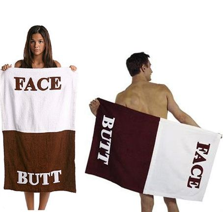 Face Butt Beach Towel
