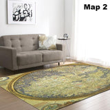 World Map Carpet