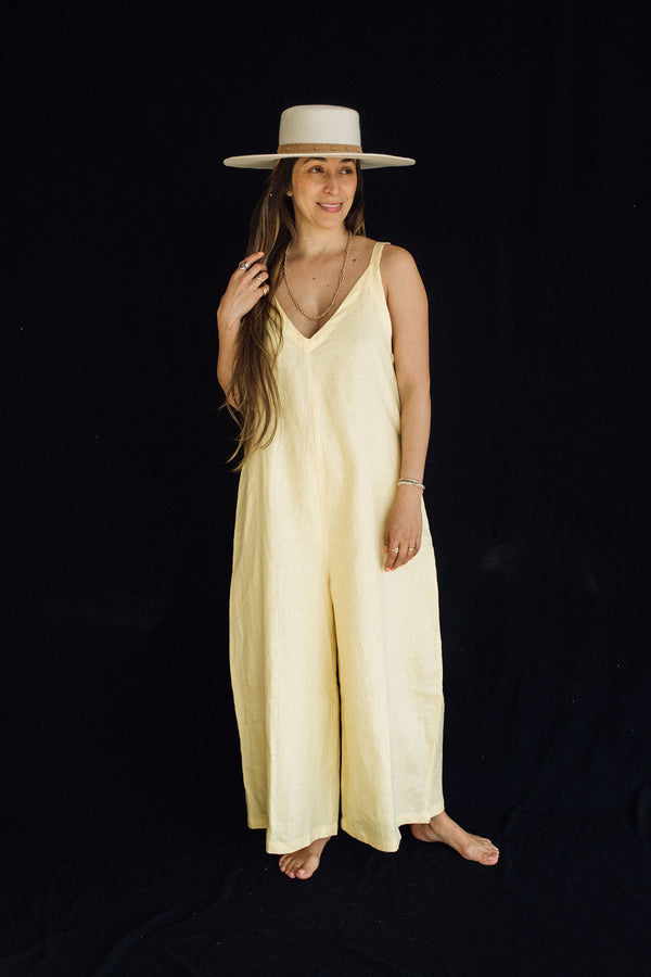 Canary Yellow Kundalini Playsuit (100% Linen, Limited Edition)