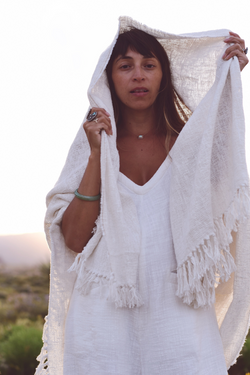 White Golden Chain Romper & Sadhana Blanket Set