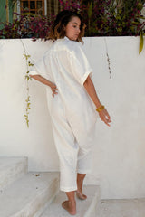 Sat Torri Playsuit (100% Linen, Multiple Colors Available)