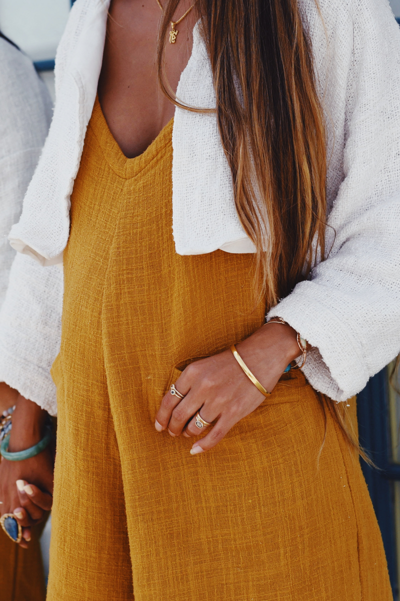 Soleil Golden Chain Romper + Guru Jacket Crop Edition Set