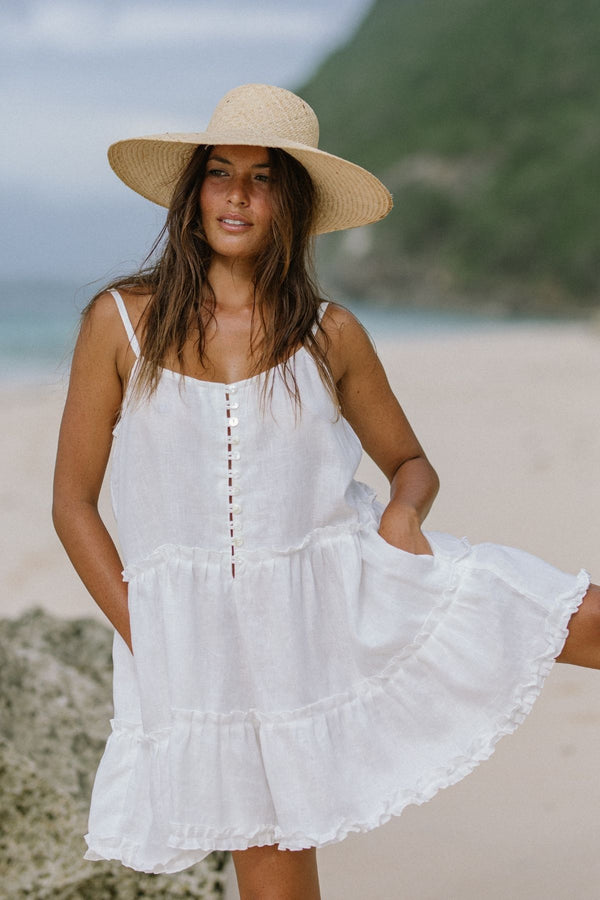 Moonlight La Mexicana Playsuit Short (100% Linen))