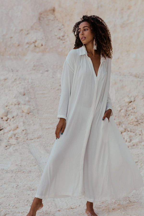 Seashell (offwhite) Edition Kundalini Gown (100% Bamboo Rayon)