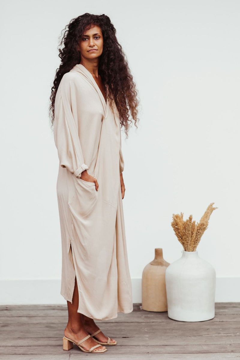 Limited Edition Amma Gown (100% Bamboo Rayon, Spring Clay)
