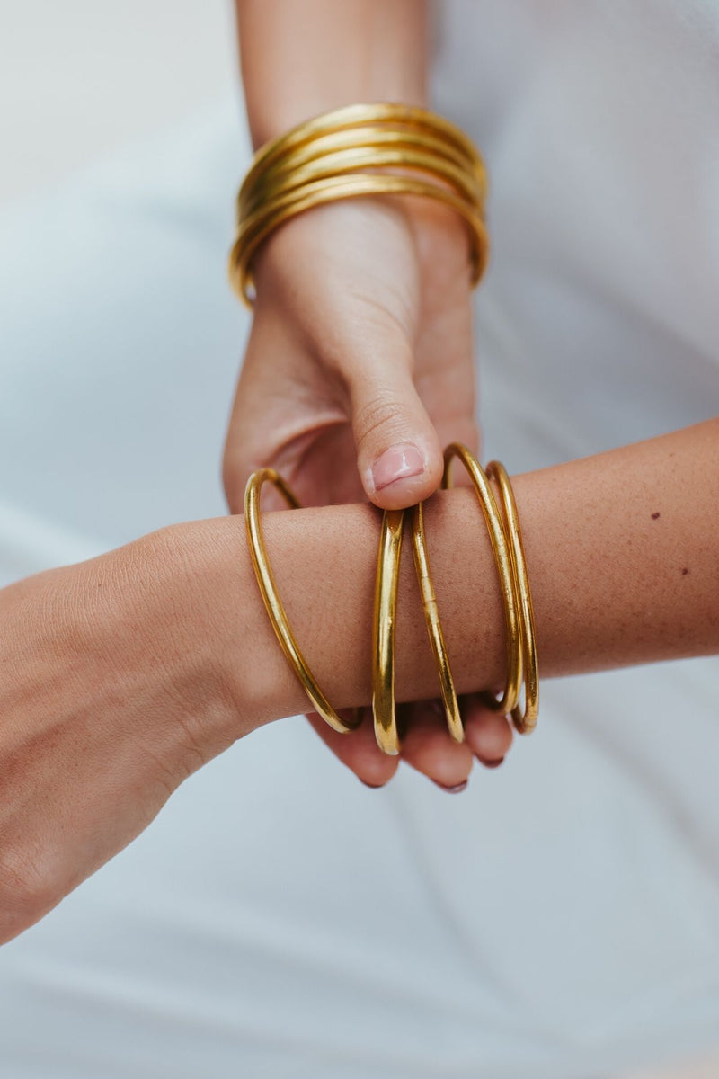 Lucky Bangles (100% Gold Filled Recycled Plastic)