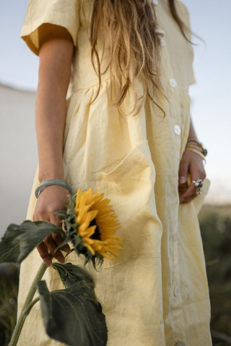 Lila Gown (Canary Island, 100% Linen)