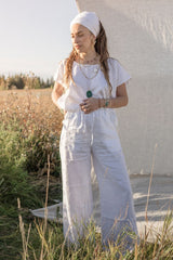 Sadhana Top & Pant Set (100% Linen, white)