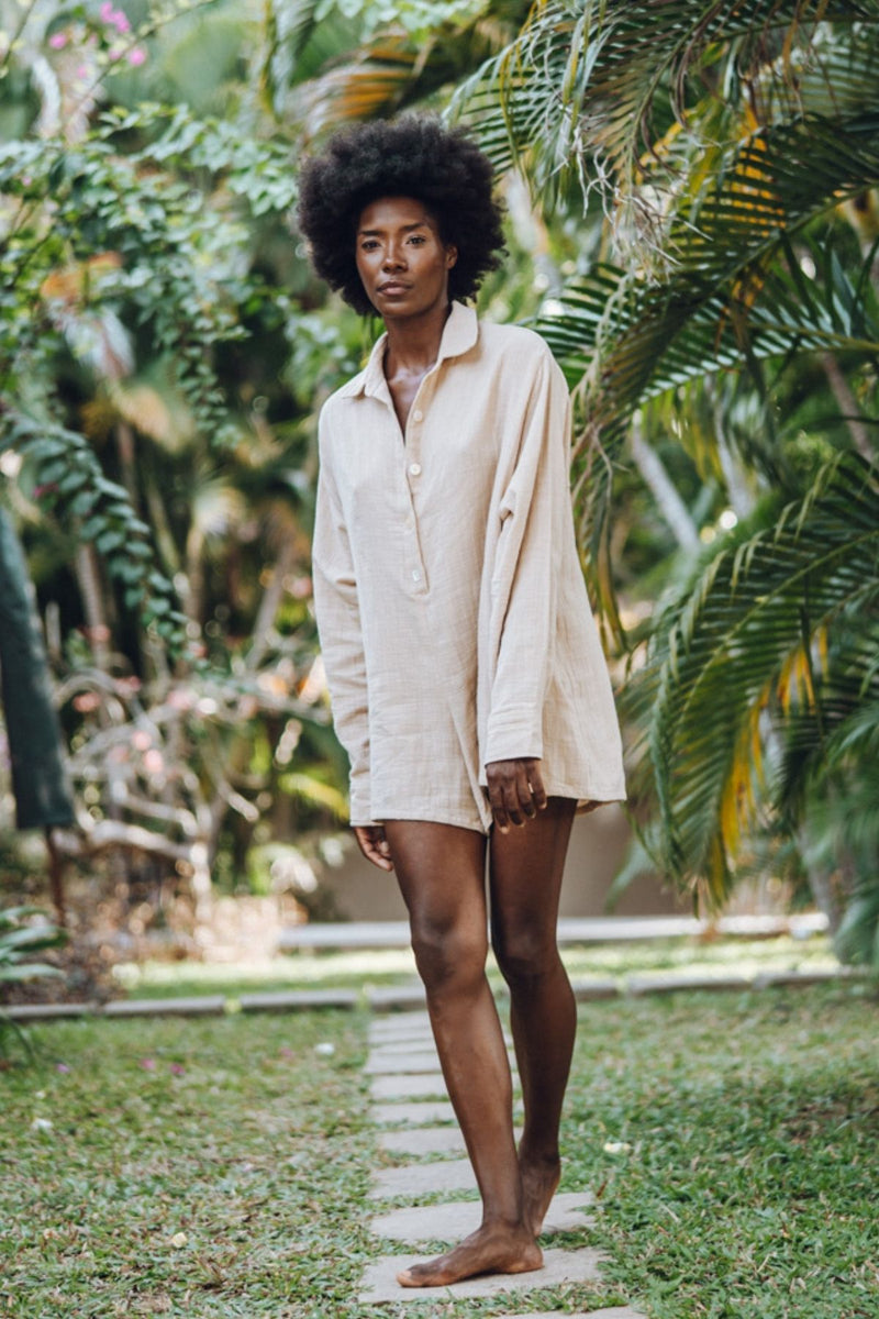The Dreamer Playsuit (100% Cotton, Spring Clay)