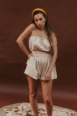 Barcelona Top + Nidra Short Set (100% Linen, Spring Clay)