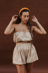 Barcelona Top + Nidra Short Set (Clay Edition / 100% Linen)