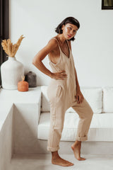 Luminous Playsuit Spring Clay Edition (Organic French Cotton Terry, Pre-Order)