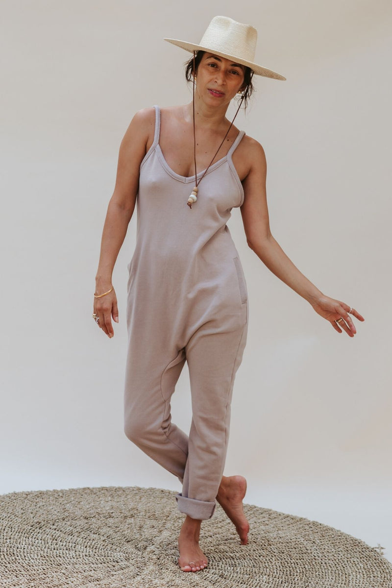 Luminous Playsuit (100% Organic Cotton, Lavender / Nude)
