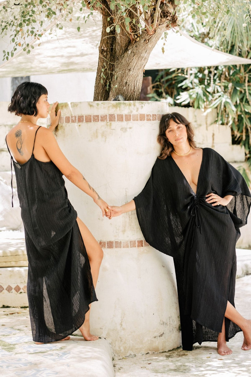 Virgo Slip & Virgo Kaftan Set (100% Linen/Cotton Luxe)