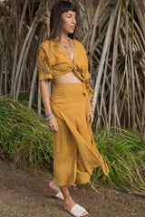 Tara Two Piece  (100% Cotton, Turmeric Gold)