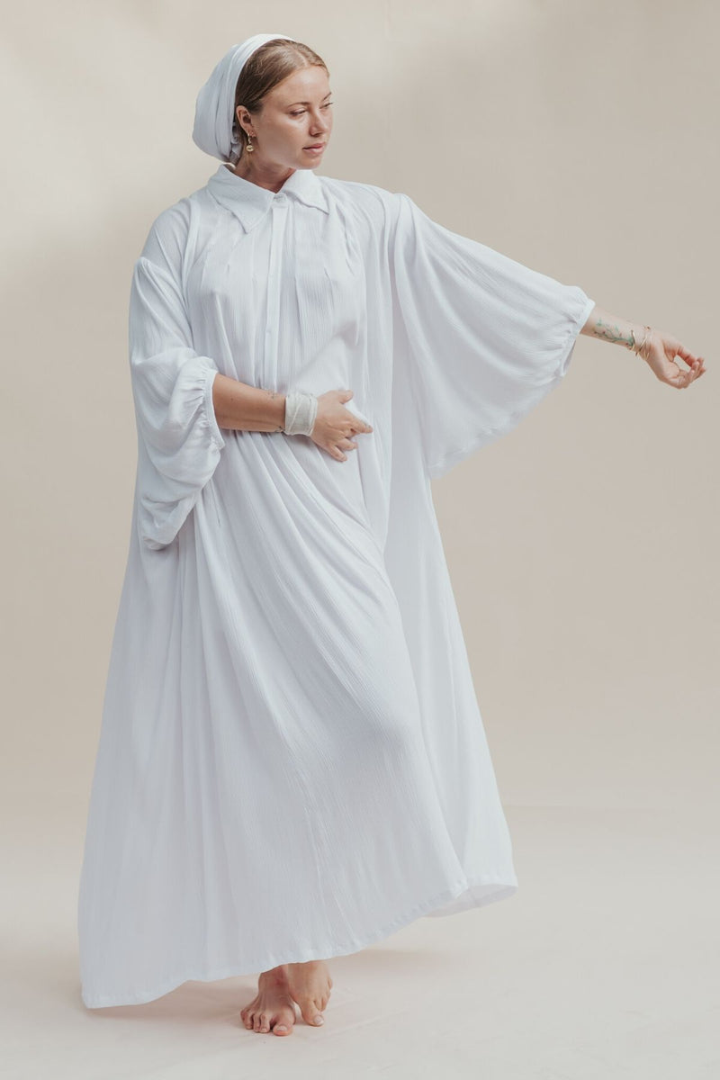 Kundalini Gown with Billowing Sleeve with belt & headwrap